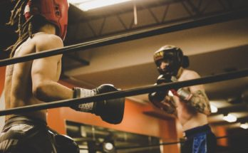 Boxing sparring.