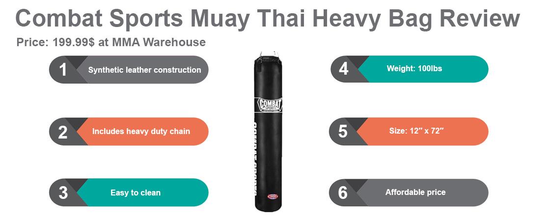 Combat Sports Muay Thai Heavy Bag Review